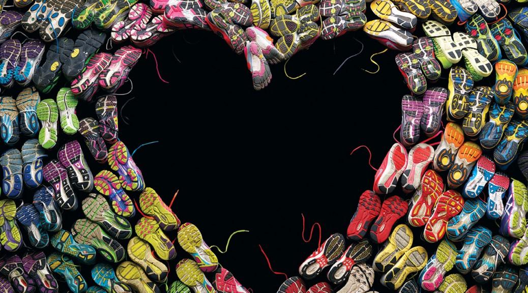 runnign shoes heart